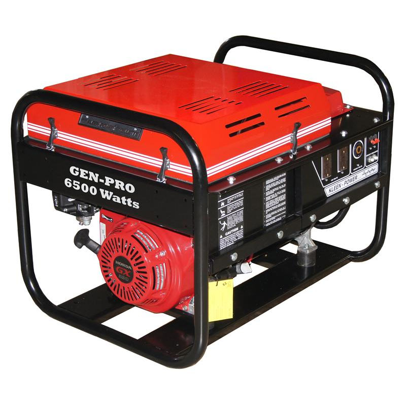 Gillette Generator GPE65H Industrial Portable Generator 6500watts 120volts recoil start gas