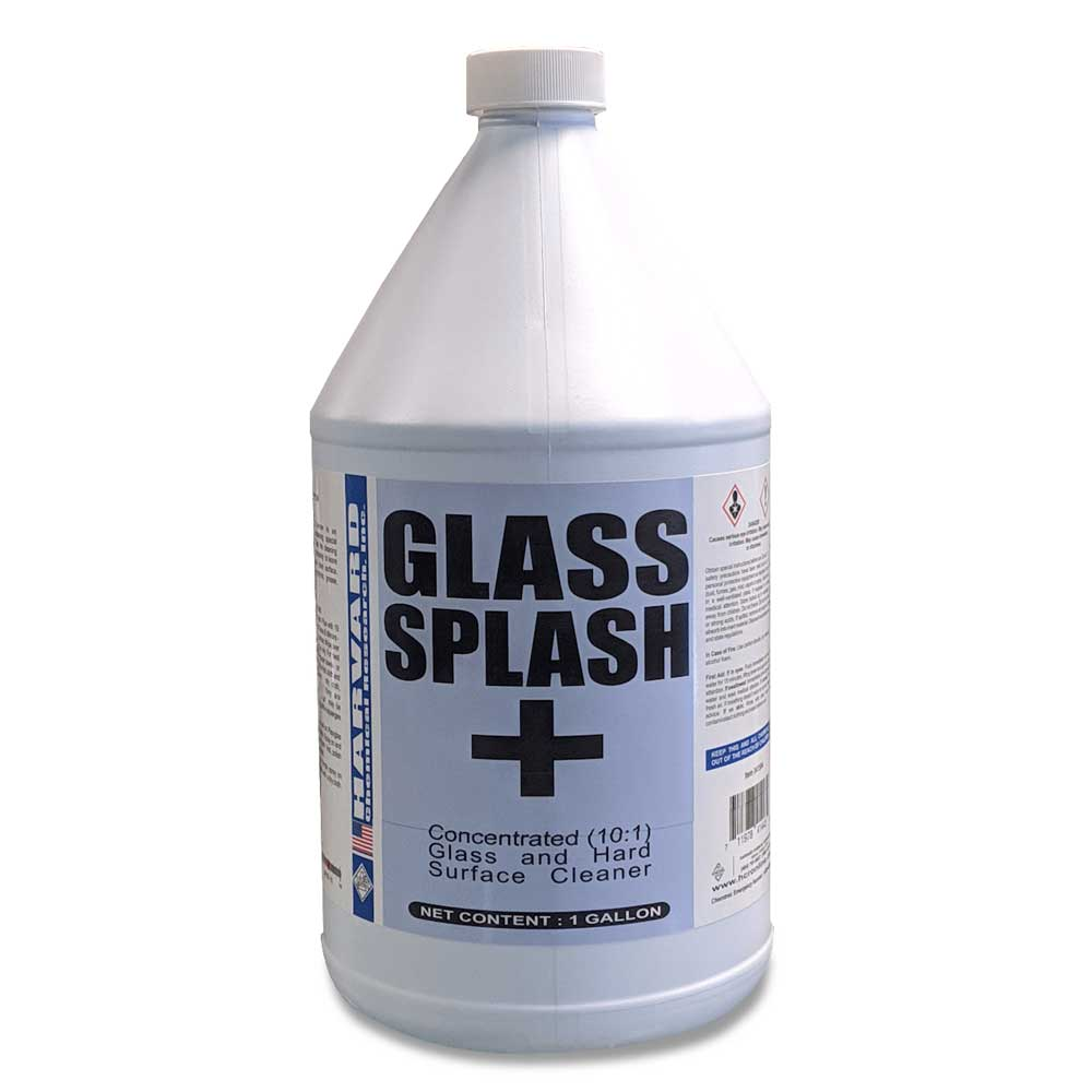 Harvard Chemical 341501 Glass Splash Plus 15-1 Concentrated Glass and Hard Surface Cleaner 1 Gallon