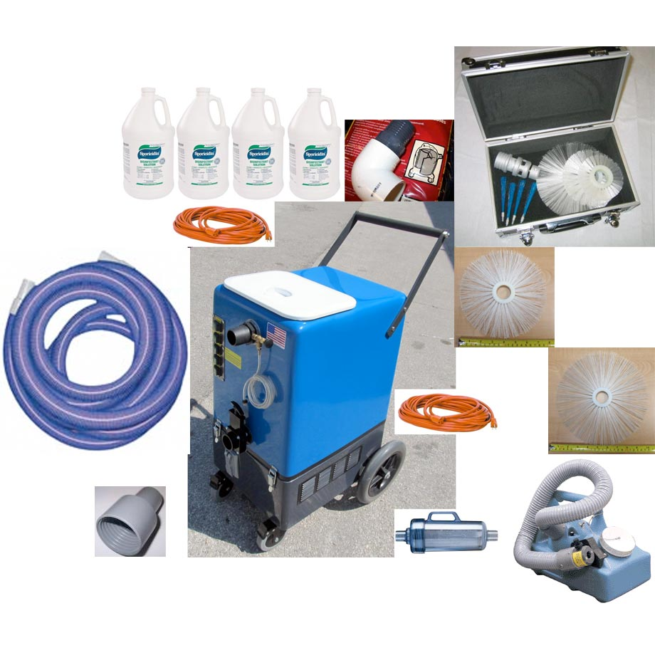 -Clean Storm Goliath 20gal Four 2 Stage Vacs Duct Cleaner Package 120v