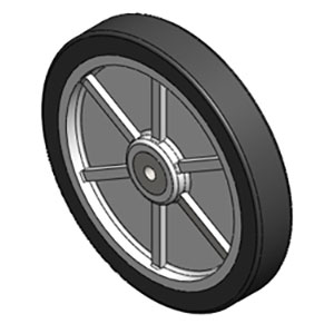 Mytee H392 10 inch Rear Wheel