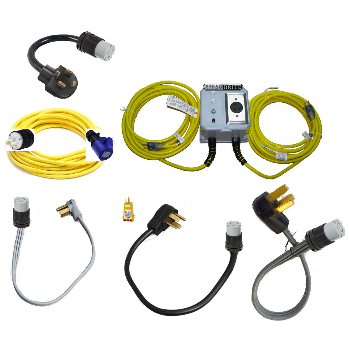 SteamBrite HTC T5 DURATIQ 5 Power Cord Set L6-20 Professional Power Supply Kit 20191211 Bundle