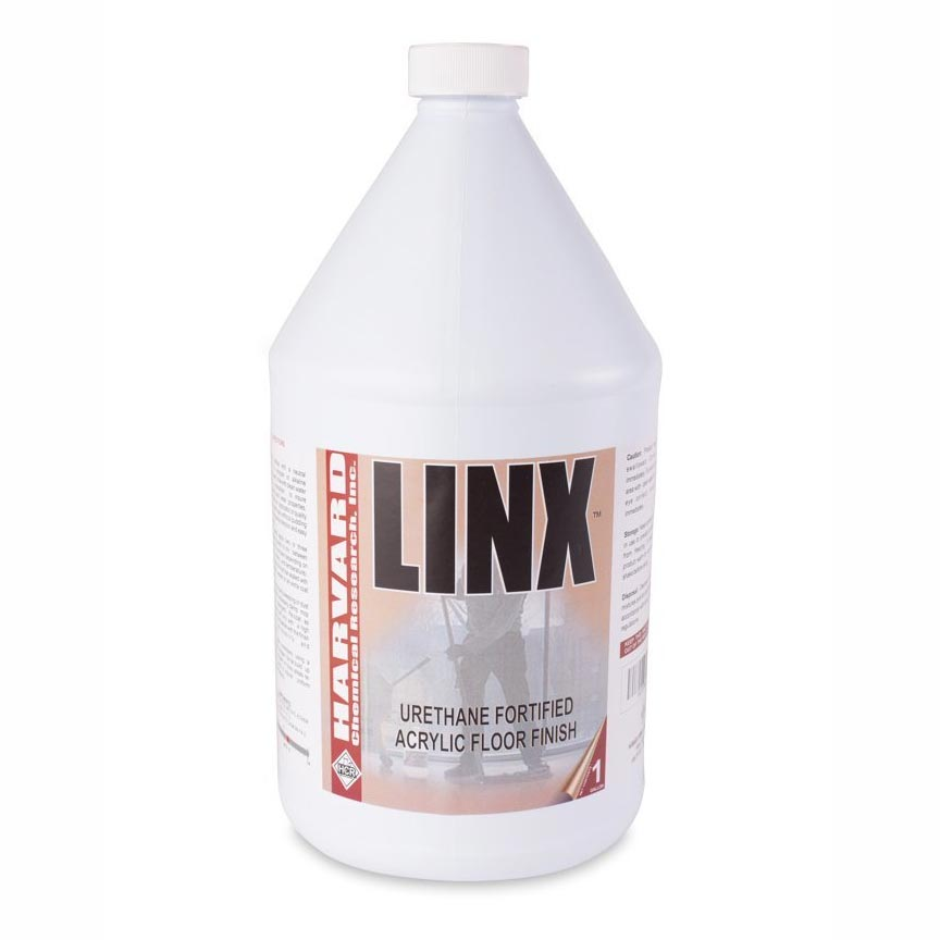Harvard Chemical 3500 Linx 22 Percent Urethane Fortified Acrylic Floor Finish, Slight Ammonia Fragrance, 1 Gallon Bottle