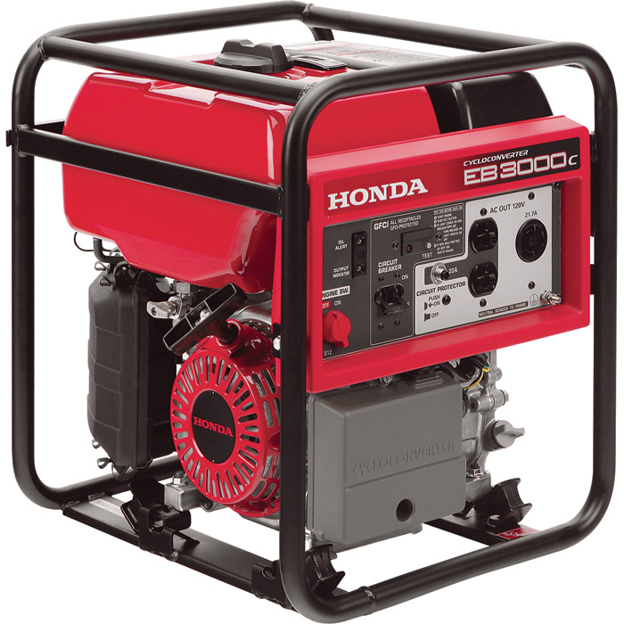 Honda EB3000CK2A CYCLOCONVERTER Portable Generator 3000 Surge Watts, 2600 Rated Watts, CARB-Compliant, Model# 165015