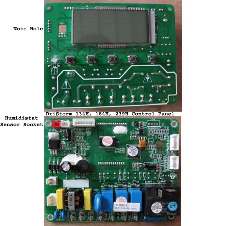 DriStorm Dehumidifier Control Panel Circuit Board For Humidistat Models 20121203 (specail order)