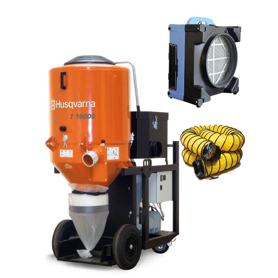Husqvarna Pullman Ermator T18000 480Volt 3-Phase 967751501 24.1Hp T 18000 2007005086 Hepa Dust Slurry Extractor Freight Inc