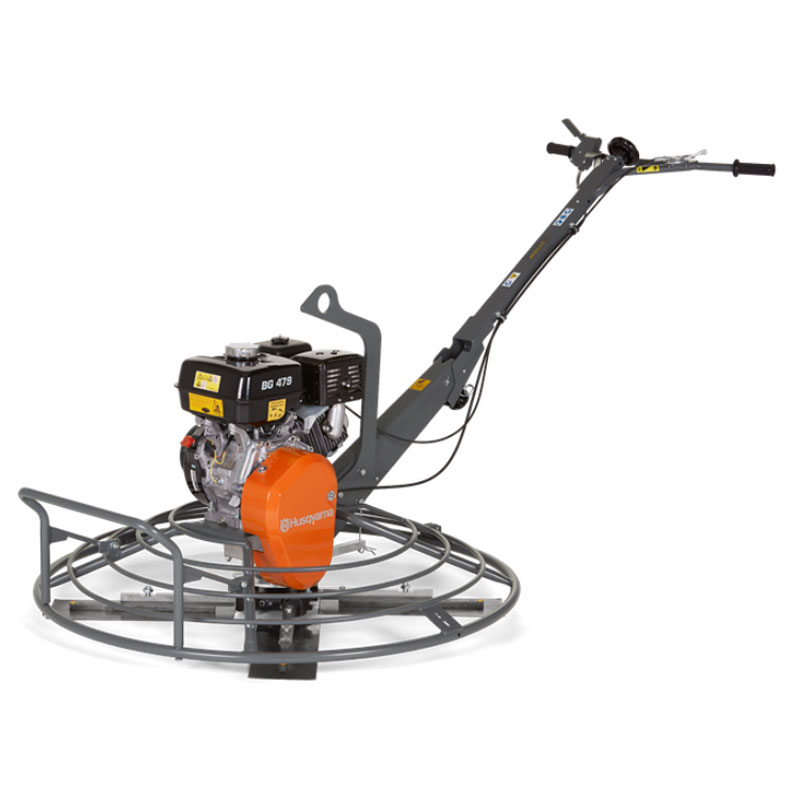 Demo Husqvarna BG479 F QP Concrete Placement Power Trowel Honda GX270 Gas Used BG 479 967859202A A Rated