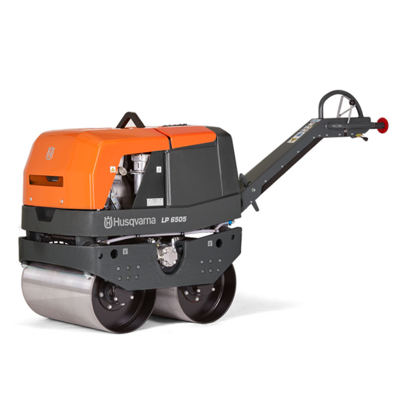 Demo Husqvarna LP6505 26 Inch Hydraulic Compaction Duplex Diesel Double Drum Roller Used LP 6505 967855701A 1687 lbs A Rated