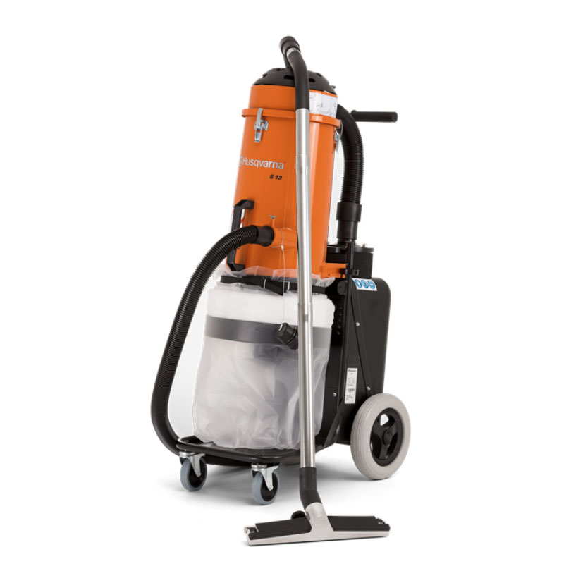 Demo Husqvarna S13 Concrete Dust Extractor Vacuum Ermator Used S 13 967664001A 120 Volts 8.5 Amps 129 CFM HTC D10 967754701