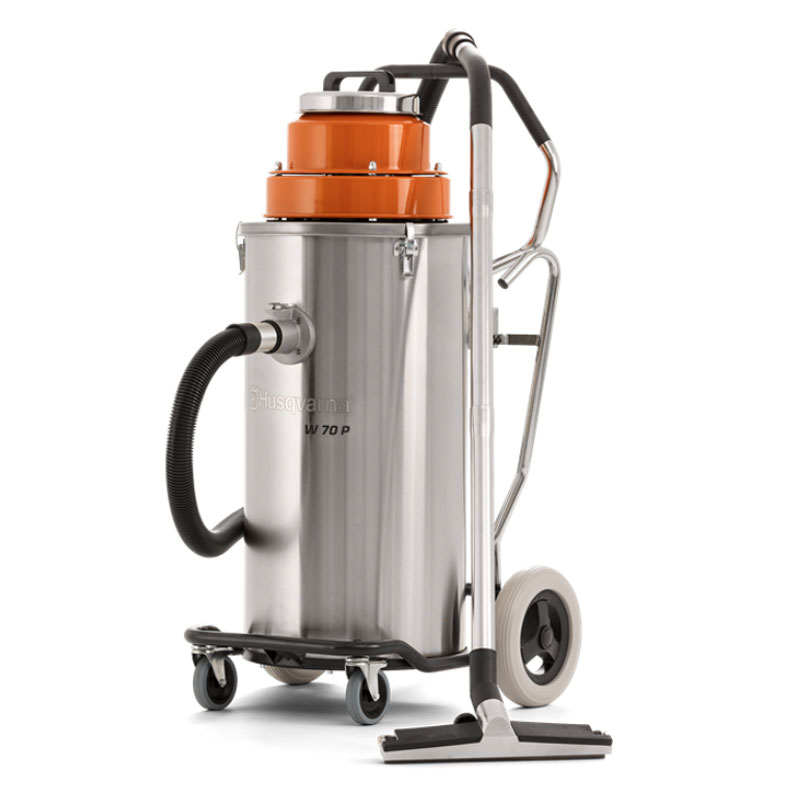 Demo Husqvarna W 70 P Wet Vacuum Dust Slurry Automatic Pump Out Used W70P 967664701B 120V 6 month Warranty