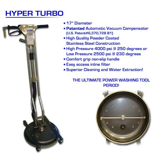 Turboforce HT777HP Hyper Turbo High Pressure 17 inch Spinner Surface Wand with Vacuum Air Recovery HT-777 HP FREE Shipping!