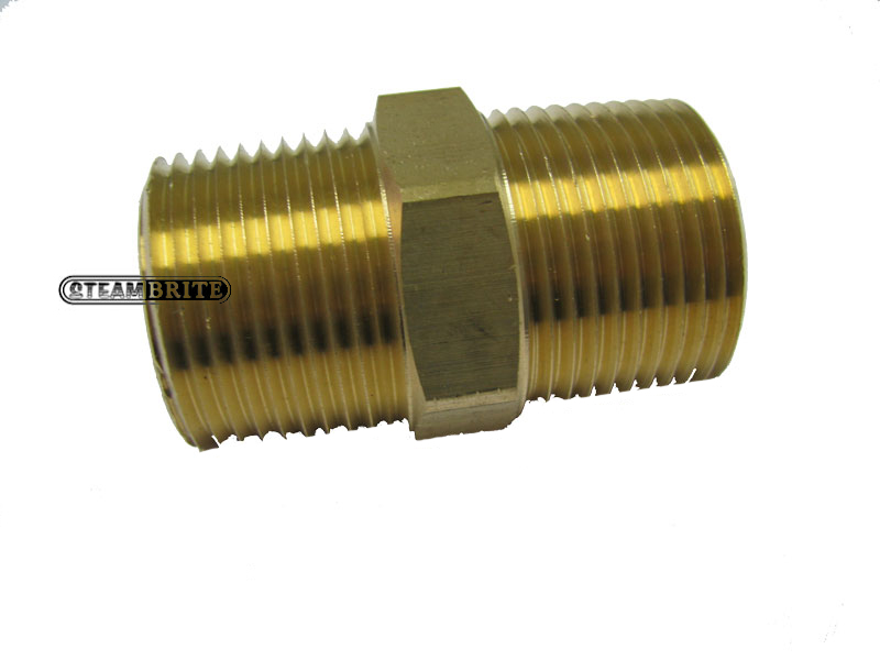 Brass Hex Nipple Double 1in Mip X 1in Mip Brass - 8.705-234.0 - 28216  28-216