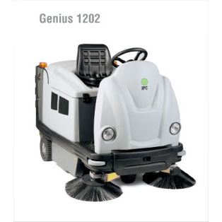 "IPC Eagle: Genius 48"" Rider Sweeper (Battery)-TK1202E TK1280E Free Three Year Warranty Free Shipping Steam Brite Exclusive"
