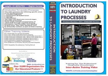 American Training Videos Hospitality Series 1071 Introduction to Laundry Processes