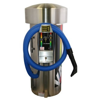 J.E. ADAMS: Super Vac - 3 Motor - 220 Volt - Large Stainless Steel Dome (International Use 220 Volt)-Car Wash Vacuum