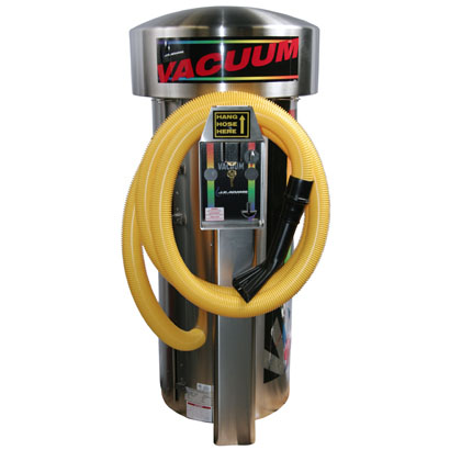 J.E. ADAMS 9213VR-ADA: Super Vac - 3 Motor - Vault Ready - Large Stainless Steel Dome-Car Wash Vacuum
