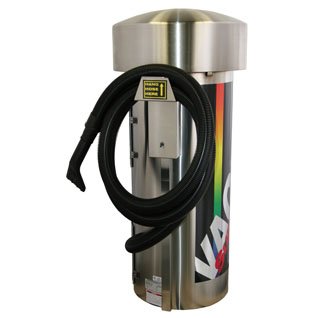J.E. ADAMS Commercial Vacuum 2 Motor 220 Volt Large Stainless Steel Dome (International Use 220Volt) Car Wash Vacuum