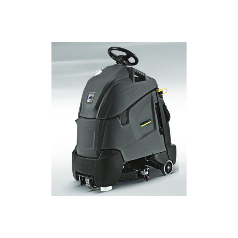 Karcher Chariot iScrub Deluxe 36V 3x12V 114 AH AGM batteries 21A on board charger with pad driver 9.840-901.0
