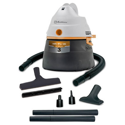 Koblenz: 3 Gallon-1.75 Peak H.P.-Wet/Dry Vacuum Cleaner---WD-354 K2G US