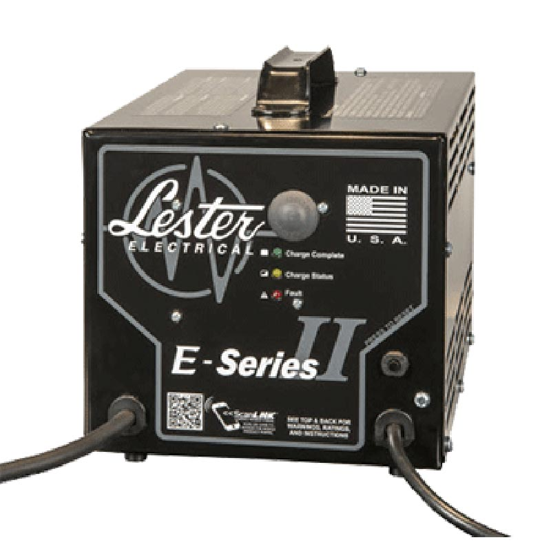 Lester Battery Charger, Sealed, 24V, 21A (9.100-507.0) FREE Shipping E Seriers II Gray Plug CH-31SCR50GS