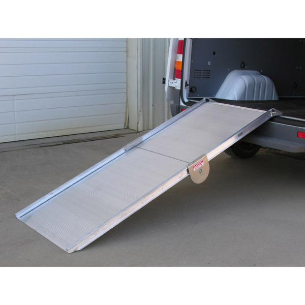 Link Manufacturing Ramps LS50 Series Heavy Duty Folding Design Ramp 24x126 LS50-24-126 Folding  7854B009