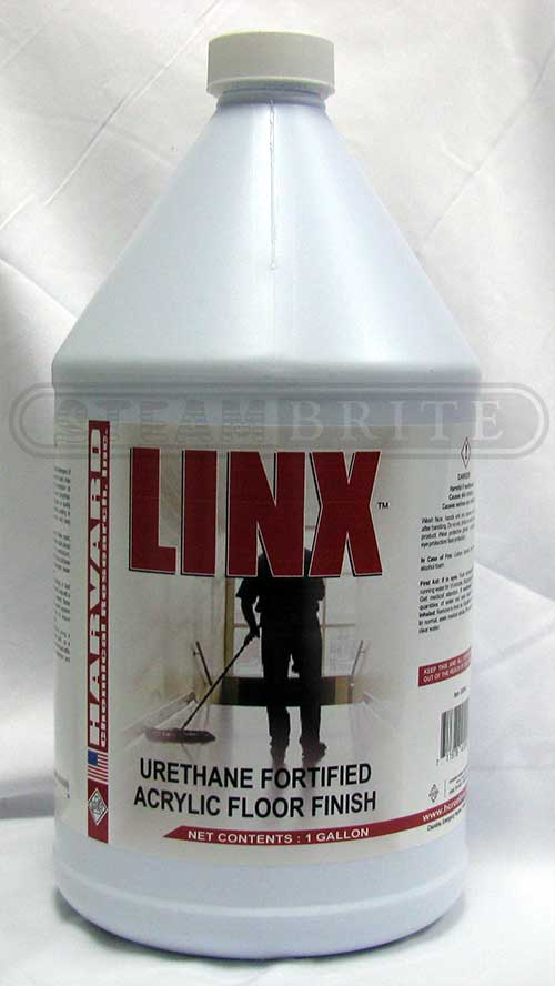 Harvard Chemical 3500-4 Linx 22 Percent Urethane Fortified Acrylic Floor Finish, Slight Ammonia Fragrance, 4/1 Gallon Case