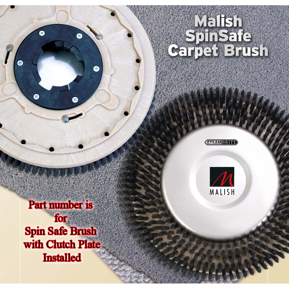 Malish 732915 Glide Brush 15 inches SpinSafe With NP9200 Clutch Plate Installed 20150702