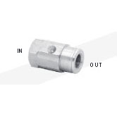 Mosmastic 29.016 Nozzle socket with locking screw stainless LAZ G1/4in F 1/8in NPT-F