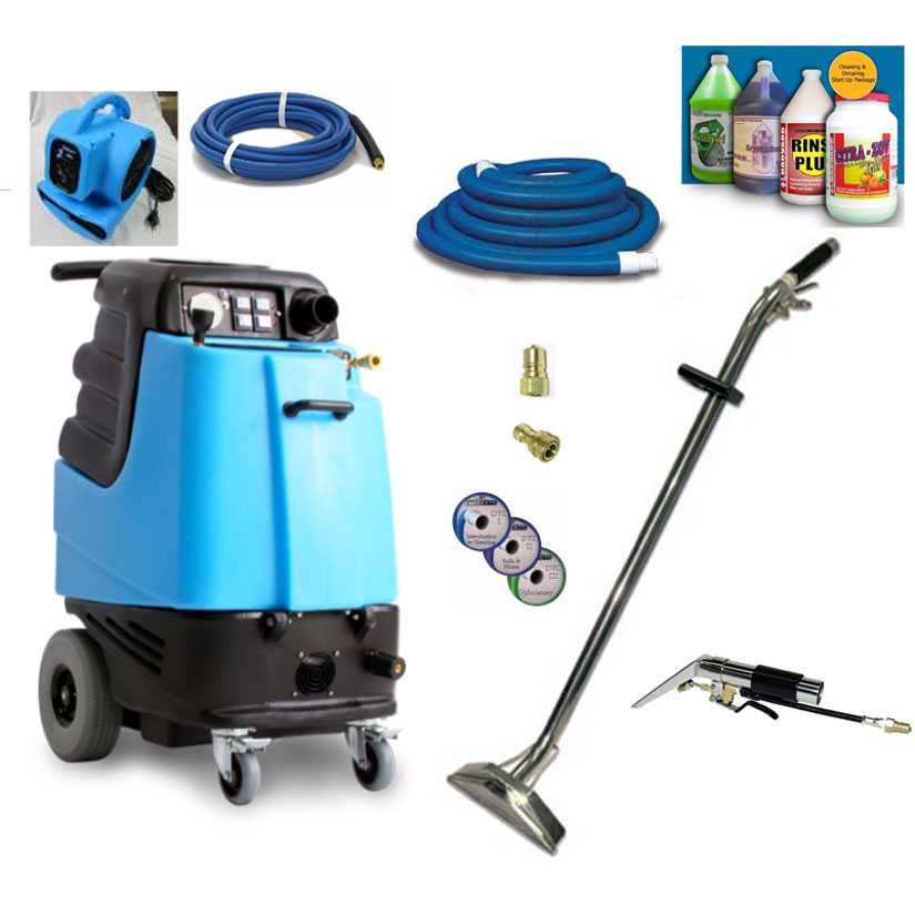 Mytee 1003DX Package Speedster Carpet Cleaning Extractor 12gal 500psi HEATED Dual 3 Stage Vacs Complete Starter Package