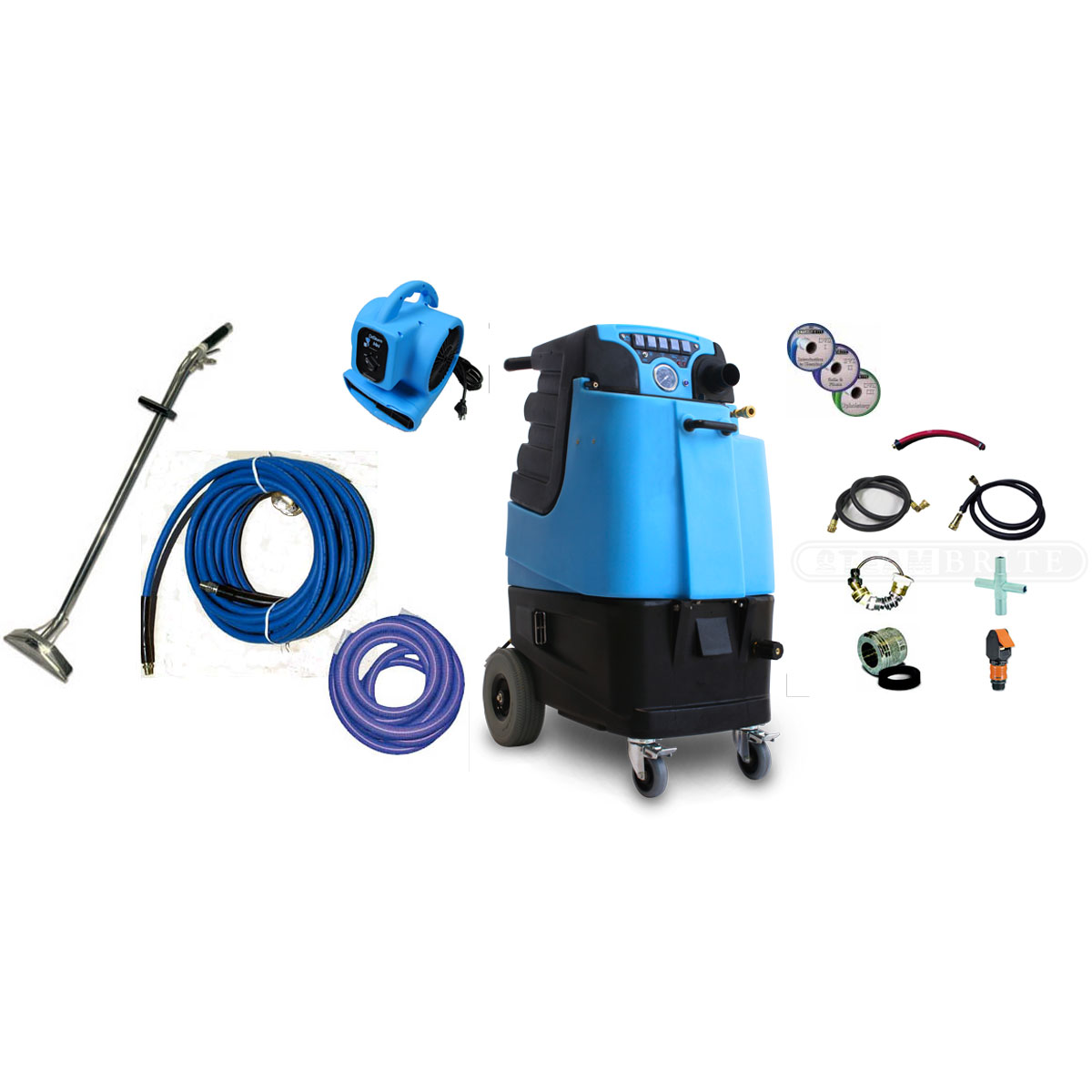 Mytee LTD3 Speedster Carpet Cleaning Machine 11Gal 500psi HEATED Dual 3 Stage Vacs Auto Auto Dump Bundle 2019113