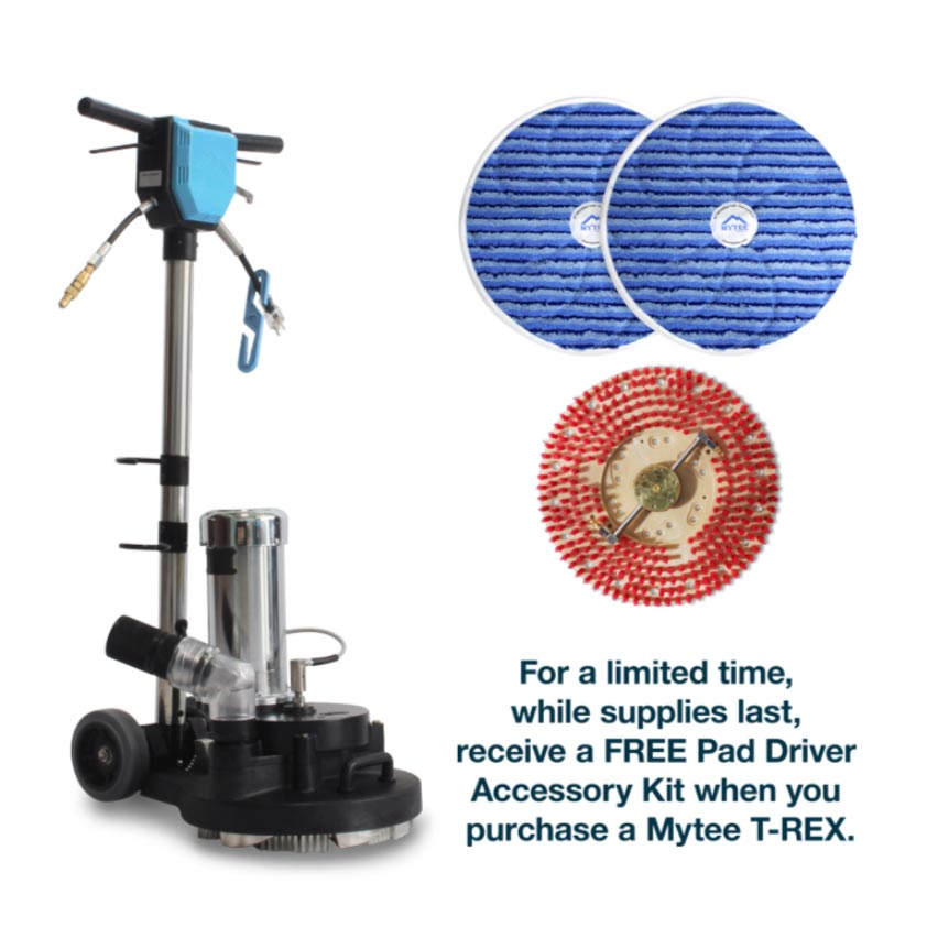 "Mytee Trex 15"" Rotary Extractor Power Wand FREE Pad Driver and Bonnets 20180713"