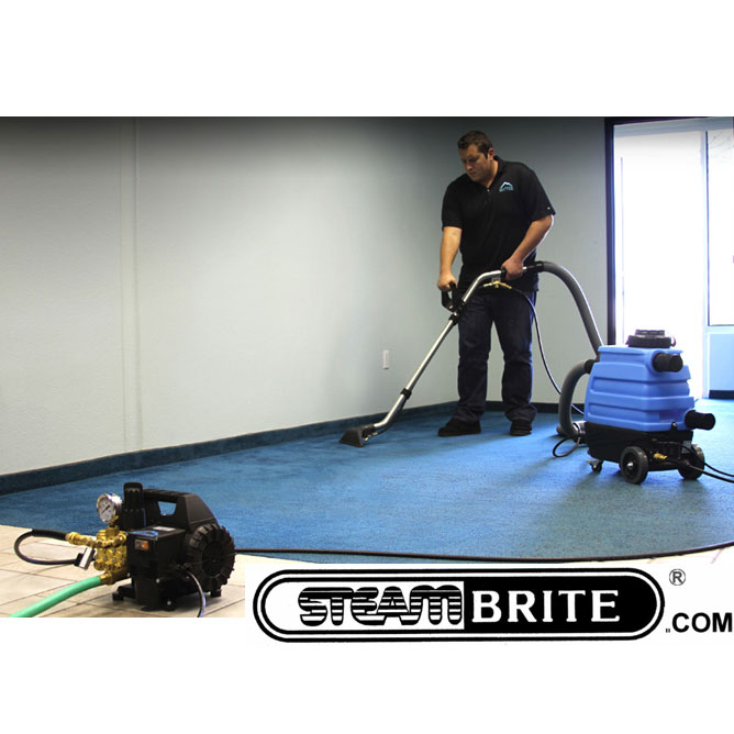 Mytee 7303 + Otter Tile and Carpet Hog Clean Team 1200 Psi pressure washer and Vacuum booster with auto dump Synergistic