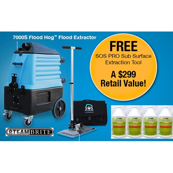 Mytee 7000SX Flood Hog Water Extraction Portable Flood Pumper Starter Package + FREE Stuff [7000S SOS]