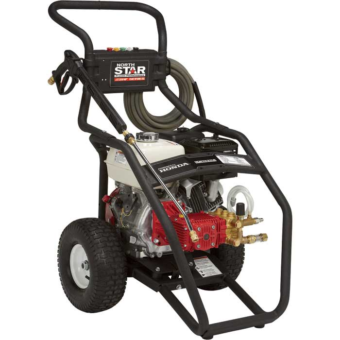 NorthStar Super High Flow Gas Cold Water Pressure Washer — 3000 PSI, 5.0 GPM, Honda Engine [15782030] Free Shipping
