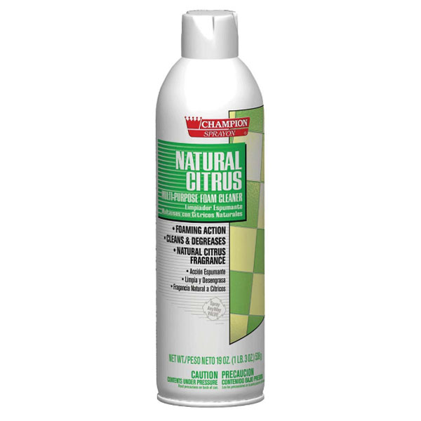 HCR CA5154 Natural Citrus Foam Cleaner case of 12/19 ounce aerosol cans