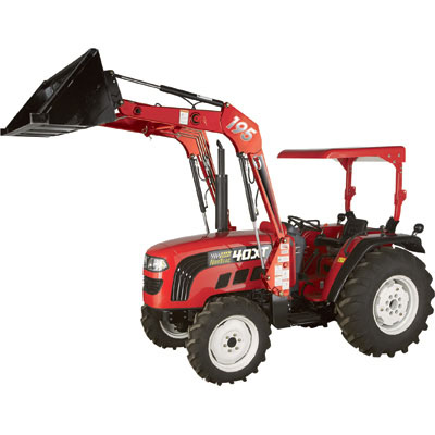NorTrac 511825: 35XT 35 HP 4WD Tractor with Front End Loader — With Hybrid Tires