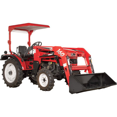 NorTrac 35XT 511225: Tractor with Loader 35 HP 4WD Tractor with Front End Loader — With Ag. Tires