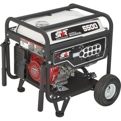 NorthStar 165601 Generator 5500 Surge Watts, 4500 Rated Watts, EPA Phase 3/CARB-Compliant (Limited Stock)