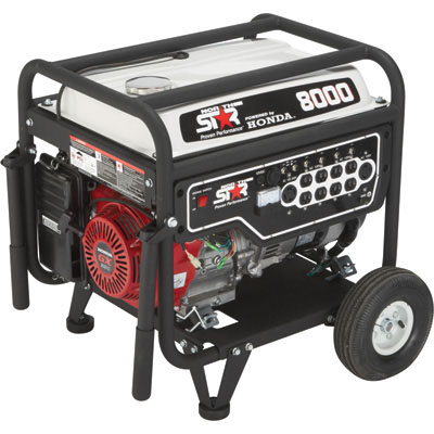 NorthStar 165603 Generator 8000 Surge Watts 6600 Rated Watts EPA Phase 3/CARB Compliant Recoil Start 390cc