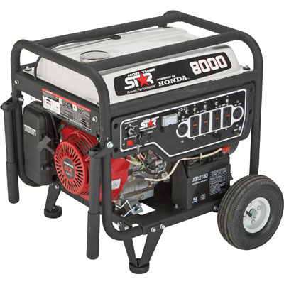 NorthStar 165604 Generator 8000 Surge Watts, 6000 Rated Watts, Electric Start, EPA-Phase 3/CARB-Compliant