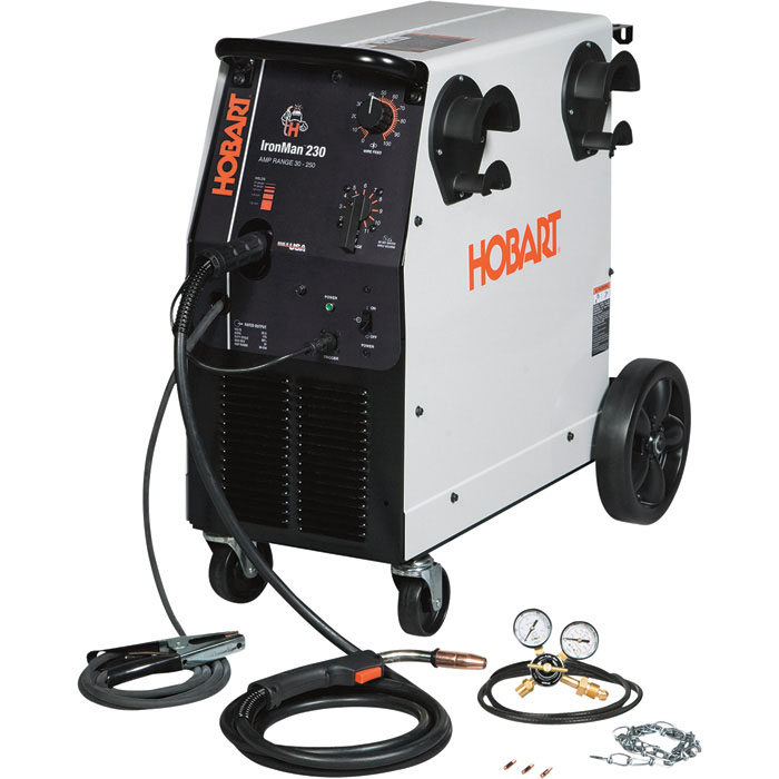 Hobart IronMan 230 230V Flux Cored MIG Welder 250 Amp Outputc  Model 500536   FREE SHIPPING