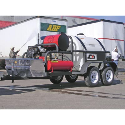 NorthStar 157597 Hot Water Pressure Washer Trailer 2 Gun  7 GPM 25 HP 4000psi FREE Shipping