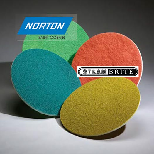 Norton Abrasives 701846 01982 Tan Diamond Stone Maintenance Pads 17 Inch 10 each of 8000 Grit 10 Pack Case SALE