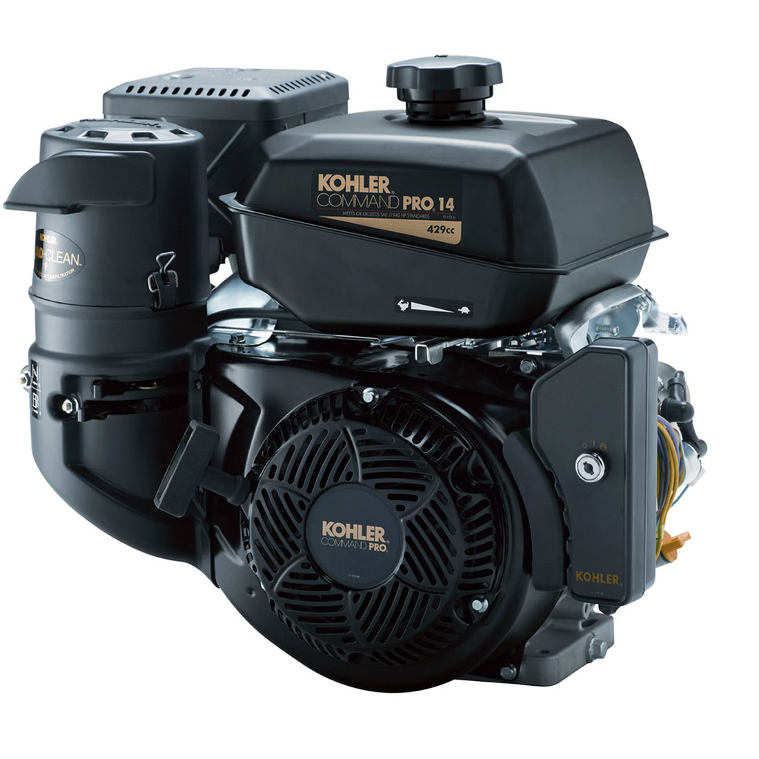 Kohler PA-CH440-3031 Command Pro Horizontal Electric Start Engine — 429cc, 1in. x 3.49in. Shaft, Model# 13937