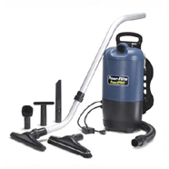 Powr-Flite: 10 qt. Back Pack Vacuum Powr-Pro backpack vacuum with 71 dB rating and 120 CFM.