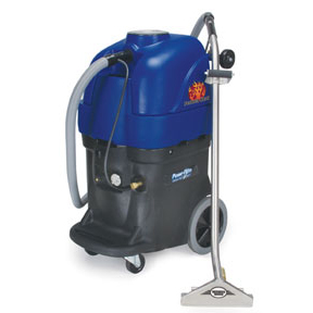 PowrFlite PFX1380EPH Commercial Upright Extractor 13gal 100psi Dual HEATED Dual 2 Stage Vacs Perfect Heat System W/Hose Set