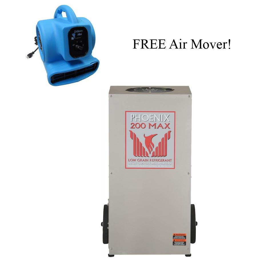 Phoenix Thermastor 250 Max Commercial Dehumidifier FREE Air Mover Plus FREE Shipping 4030010