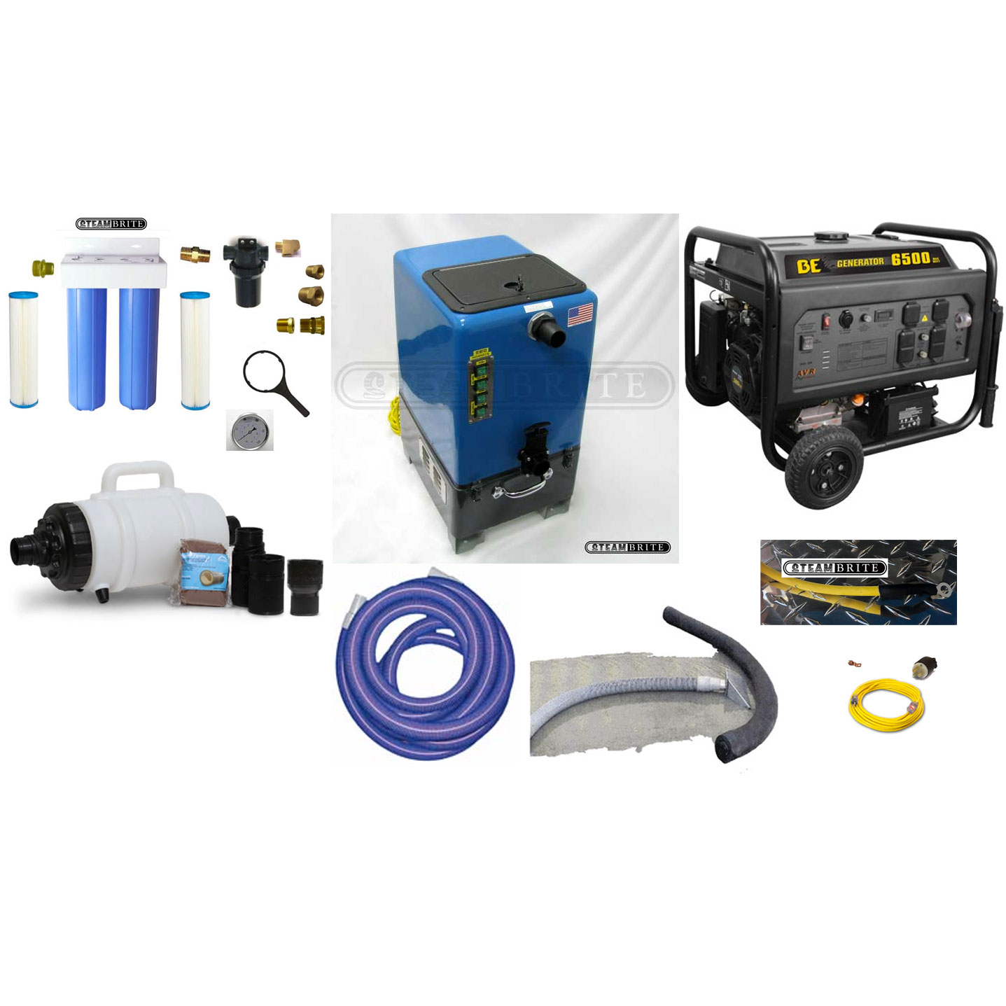 Clean Storm Pressure Washing Water Recycling Kit Goliath Dual 6.6 Vacs 6.6 GPM Recycler Trailer Mount Package 20190115