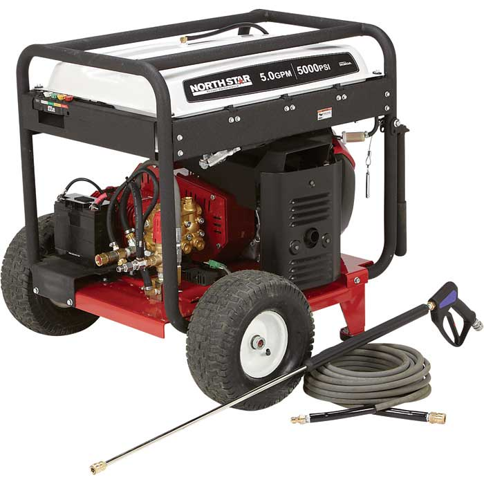 NorthStar 1572091 Gas Cold Water Pressure Washer 5000 PSI 5.0 GPM Freight Included 1572093