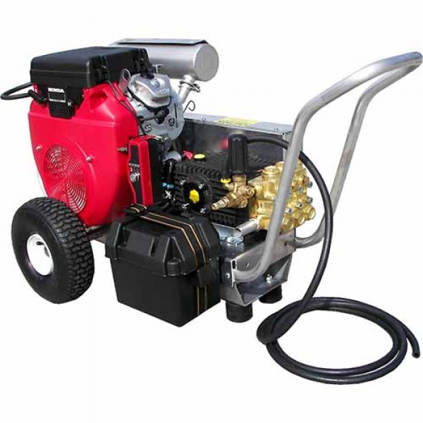 Pressure Pro VB8035HAEA406 8.0GPM-3500PSI - General Triplex Pump - Honda GX 690 Electric-Start - V-Belt Drive -50' Attachment Kit - 12H15
