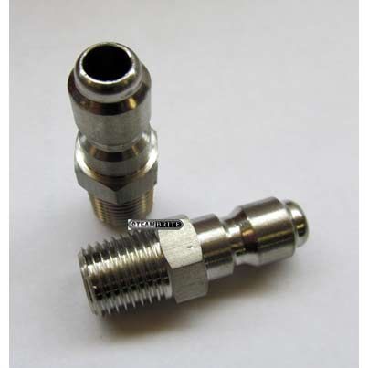 Male Nipple Plug 3/8 in Stainless Steel Quick Coupler 87071520 QD  [8.707-152.0]